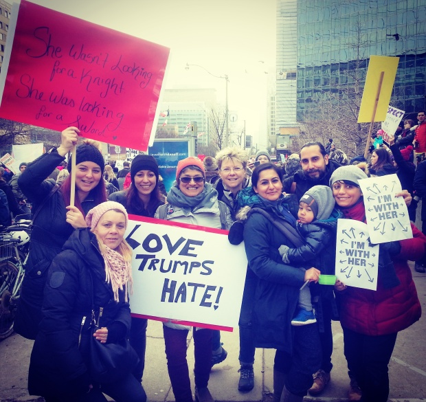 womens march love trumps hate